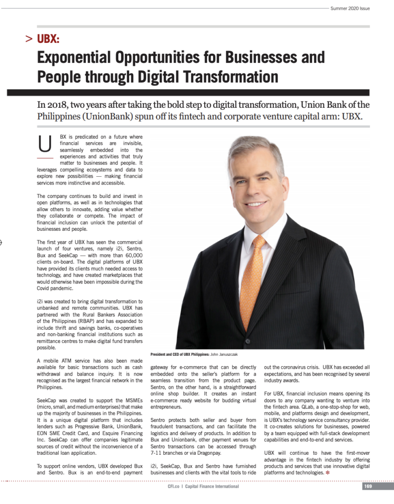 Exponential Opportunities for Businesses and People through Digital Transformation | UBX on CFI (Capital Finance International)